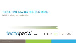 Three Time saving Tips for DBAs