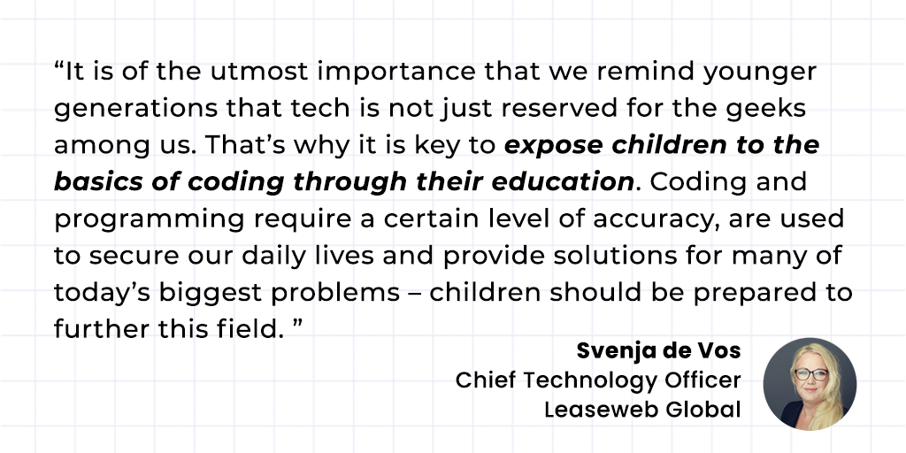 Svenja de Vos CTO Leaseweb Global Quote