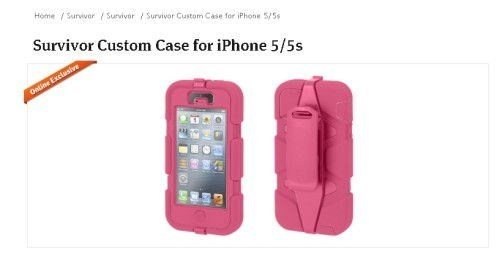 pink Survivor Custom Case for iPhone 5