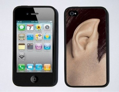 Star Trek iPhone case with a picture of Spock's ear