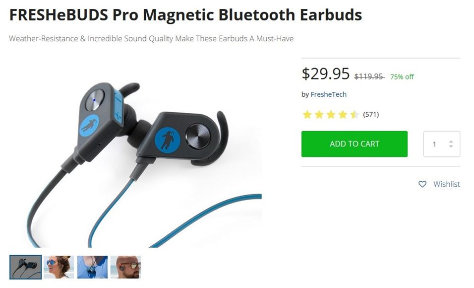 Techopedia Deals: FRESHeBUDS Pro Magnetic Bluetooth Earbuds