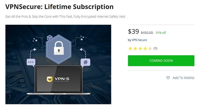 Techopedia Deals: VPNSecure: Lifetime Subscription
