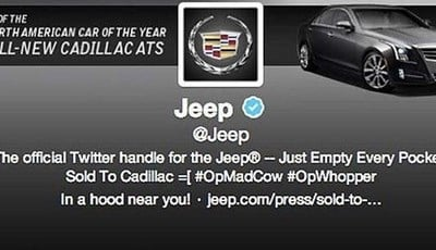 Jeep Twitter account hacked posting they've been sold to Cadillac