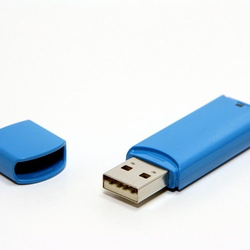 Use of flash drive or thumb drive