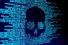 top cyberattacks of 2020: a skull is shown in text on a computer screen