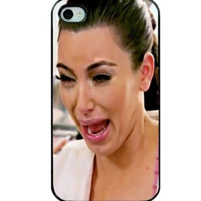 iPhone case with a picture of Kim Kardashian crying