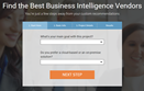Business Intelligence Product Selection Tool