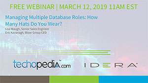 FREE WEBINAR - March 12, 2019 11:00am EST | Managing Multiple Database Roles: How Many Hats Do You Wear? REGISTER TODAY