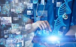 Artificial intelligence, healthcare, Medical technology concept