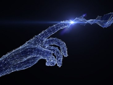 How does artificial intelligence compare to man-computer symbiosis?