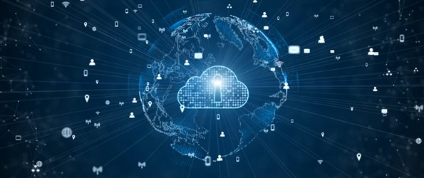 Secure Privacy Data Network Digital Cloud Computing Cyber Security Concept