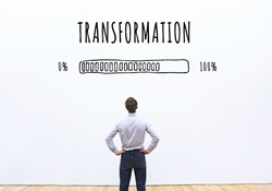 career shift transformation business concept with progress bar