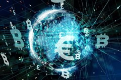Cryptocurrency fintech technology bitcoin concept